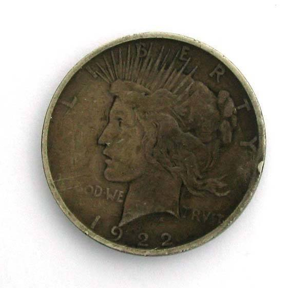 1922  Peace Type Silver Dollar Coin - Investment