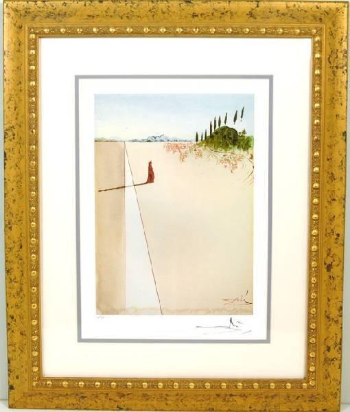 """SALVADOR DALI """"Divine Comedy"""" Rare Museum Framed 21x25"""