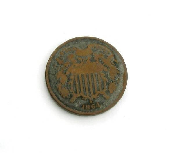 1864 U.S. Shield Two Cent Coin - Investment