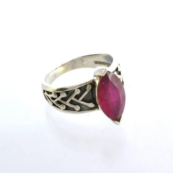 APP: 2k Sebastian 2CT  Marquise Cut Ruby & Silver Ring