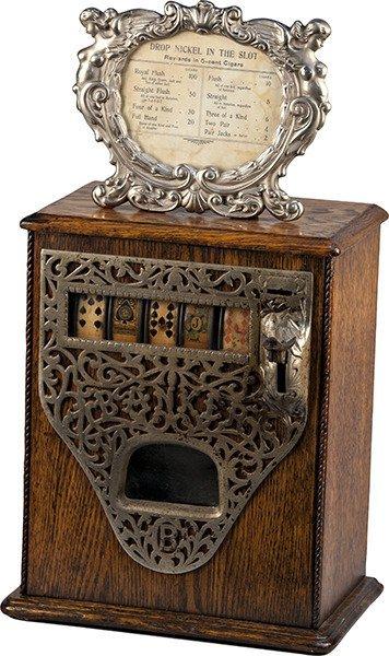 5 Cent Caille Bros. Poker Hand Cigar Stimulator c1906
