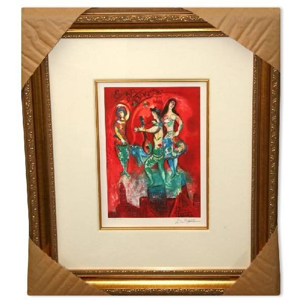 "Marc Chagall ""Carmen"" Museum Framed Giclee-Limited Edit"
