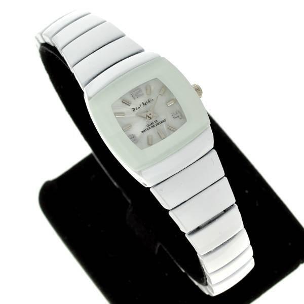 Paul Jardin Women's Round White & Silver  Watch