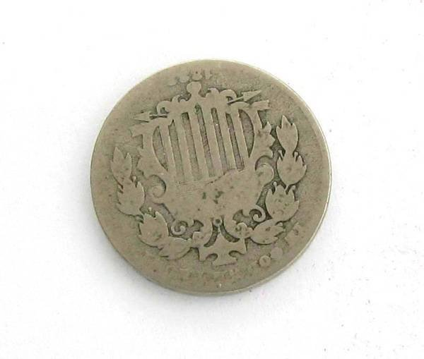 1882 Shield Nickel Coin - Investment
