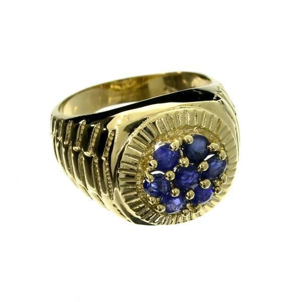 APP: 5k 14kt & 1CT Sapphire Rolex Style Ring