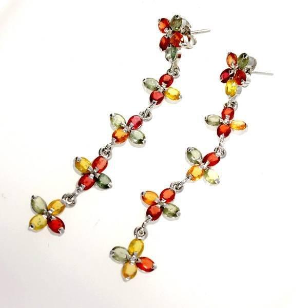 APP: 5k 6CT Semi-Precious Gemstone & Silver Earrings