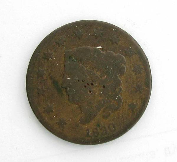1830 Large Cent Coin - Investment