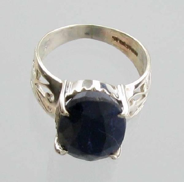 APP: 1k Sebastian 6CT  Oval Cut Sapphire & Silver Ring