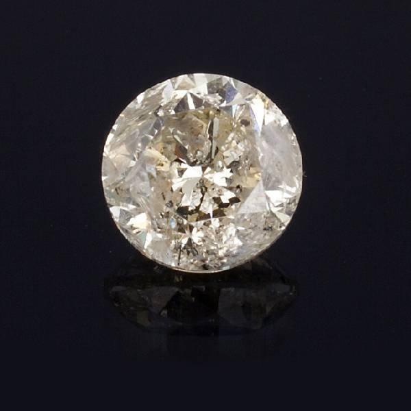 APP: 14k *2.64CT Round Cut Diamond Gemstone