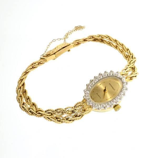 APP: 4.6k 14 kt. Gold, 0.18CT Diamond Concord Watch