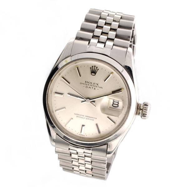 Rolex Men's Oyster Perpetual Date Stainless Steel Watch