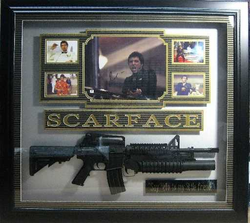 Al Pacino Scarface Shadowbox Authentic Signature