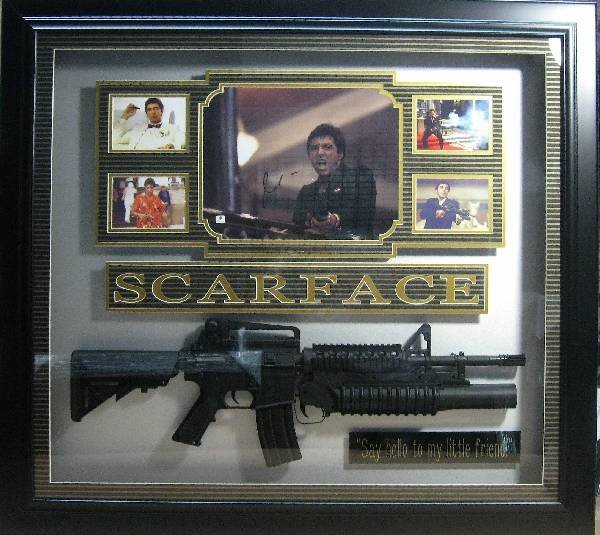 Pacino scarface shadowbox authentic signature al pacino scarface shadowbox authentic signature jeuxipadfo Images
