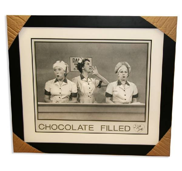 """I Love Lucy - Framed Lithograph """" Chocolate Field"""""""