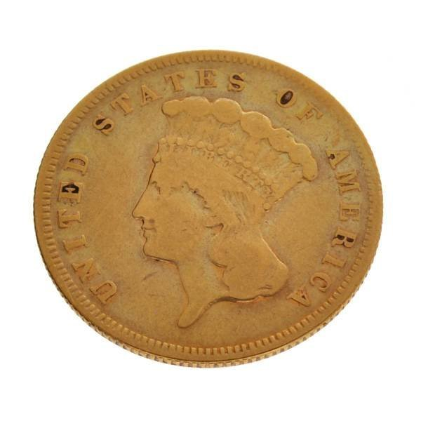 1878 $3 Princess Head Gold Coin - Investment