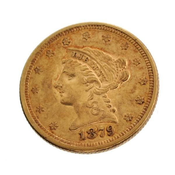 1879 $2.5 US Liberty Head Type Gold Coin - Investment