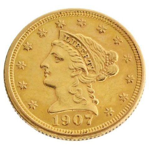 1907 $2.5 US Liberty Head Type Gold Coin - Investment
