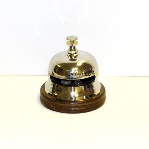 Hotel Bell w/Wood Base