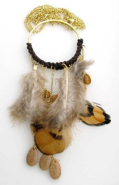 Charlotte Russe Jewelry - (organic) Feathers Necklace