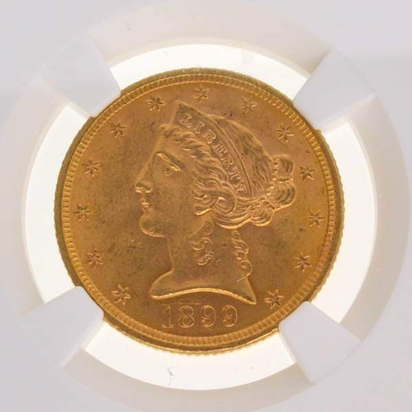 1899 $5 Liberty Head Gold Coin - Investment