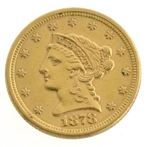 1878 $2.5 US Liberty Head Type Gold Coin - Investment