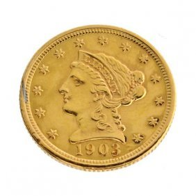 1903 $2.5 US Liberty Head Type Gold Coin - Investment