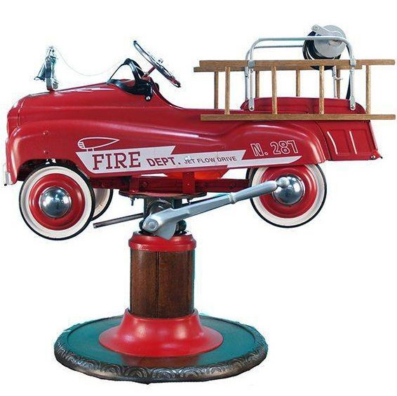 Fire Truck Pedal Car Product By Burns Novelty & Toy Co.
