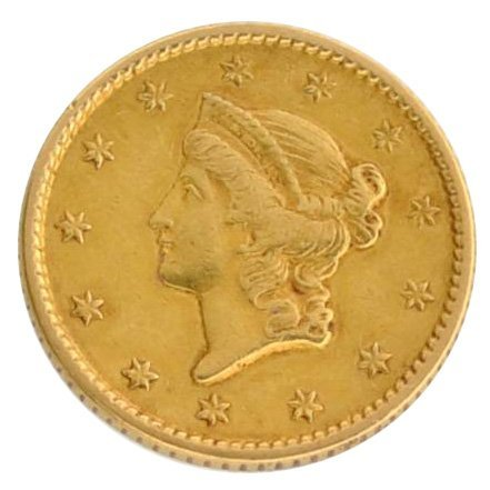 1851 $1 U.S Liberty Head Type Gold Coin - Investment