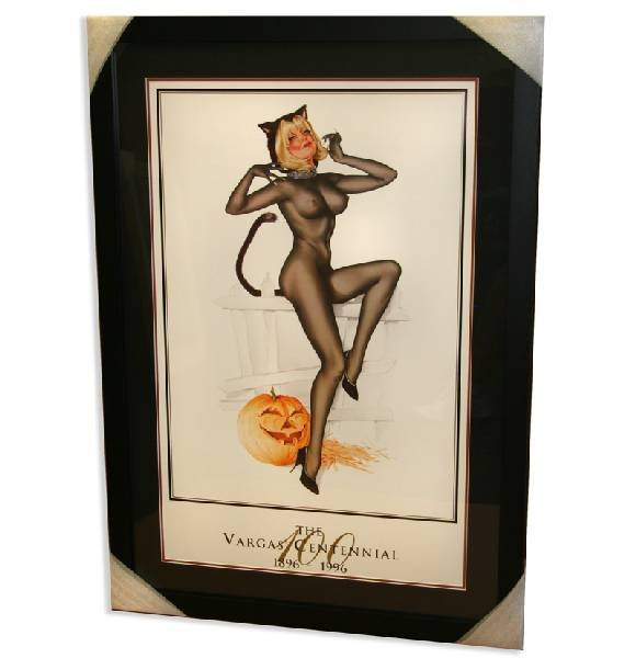 """Alberto Vargas - Lithograph - """" Trick or Treat """""""