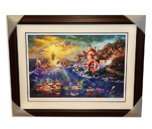 "Thomas Kinkade - Signed, Numbered ""Little Mermaid"" Rare"