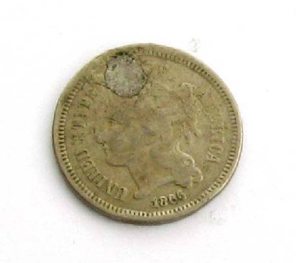 1866 Three Cent (Nickel) Coin - Investment
