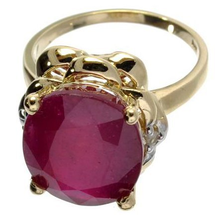 APP: 12k 14kt Yellow & White Gold, Ruby & Diamond Ring