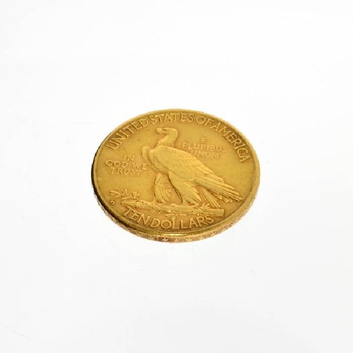 1910-D $5 U.S. Indian Head Gold Coin - Investment - 2