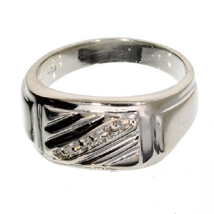 APP: 1k 0CT  Round Cut Diamond & Sterl Silver Ring