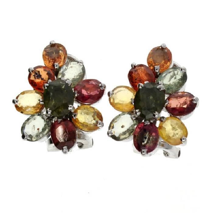 APP: 3k 8CT Semi-Precious Gemstone & Silver Earrings