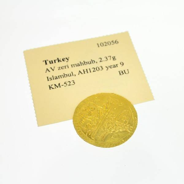 Turkey, Islambul, AH 1203 year 9 Ancient Gold Coin