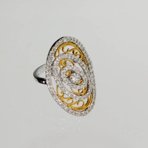 APP: 6k *18kt White & Yellow Gold, 0.97CT Diamond Ring
