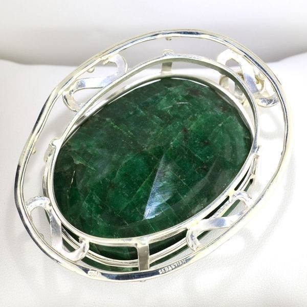 APP: 13.9k 156.32CT Oval Cut Emerald Gemstone - 2
