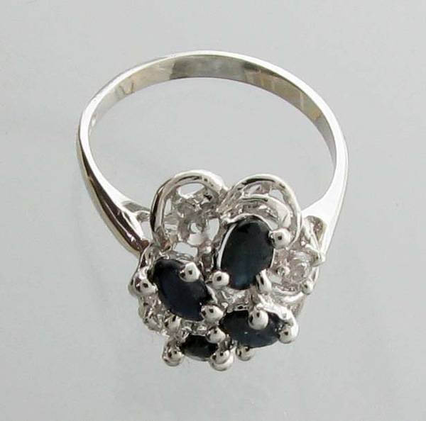 APP: 1.3k 1.51CT Sapphire & Topaz Sterling Silver Ring