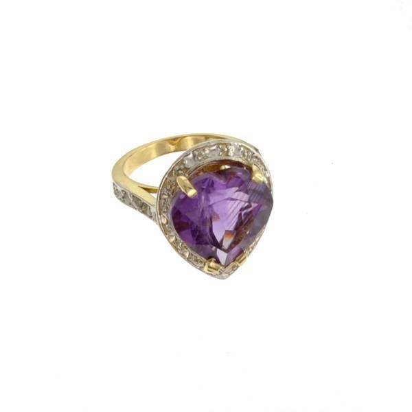 APP: 3k 14kt Yellow & White Gold, 8.86CT Amethyst Ring