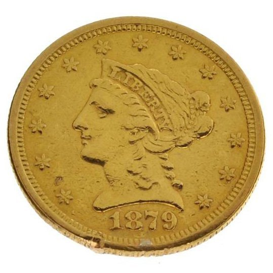 1879 U.S. $2.5 Liberty Head Gold Coin - Investment