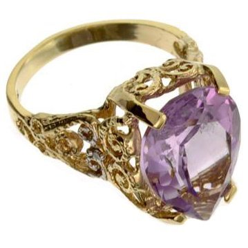 APP: 2k 14kt Yellow & White Gold, 7.21CT Amethyst Ring