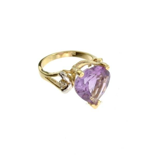 APP: 2k 14kt Yellow & White Gold, 9.04CT Amethyst Ring