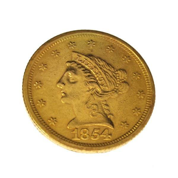 *1854 $2.5 Liberty Head Gold Coin - Investment