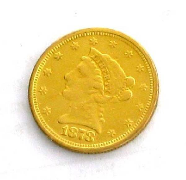 1878-S US $2.5 Liberty Head Type Gold Coin - Investment