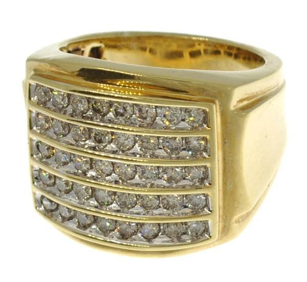 APP: 9k 14kt White & Yellow Gold, 1CT Diamond Ring