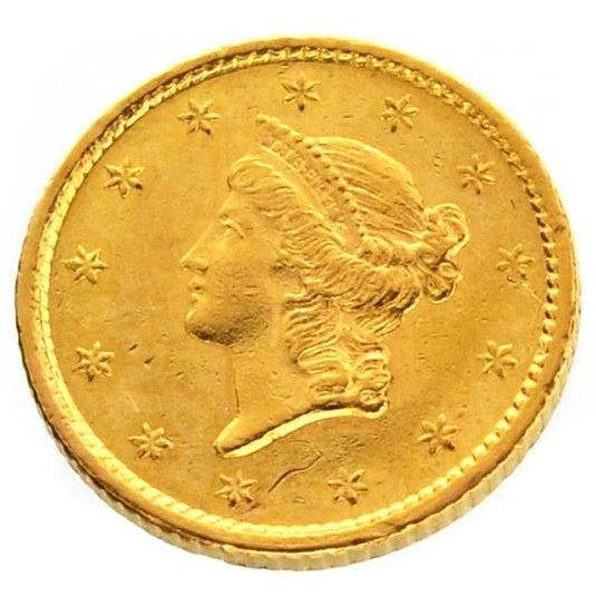 1854 U.S. $1 Liberty Head Gold Coin - Investment