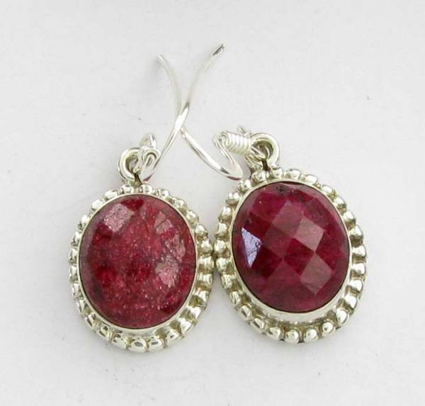 APP: 4.7k 8.89CT Ruby & Sterling Silver Earrings