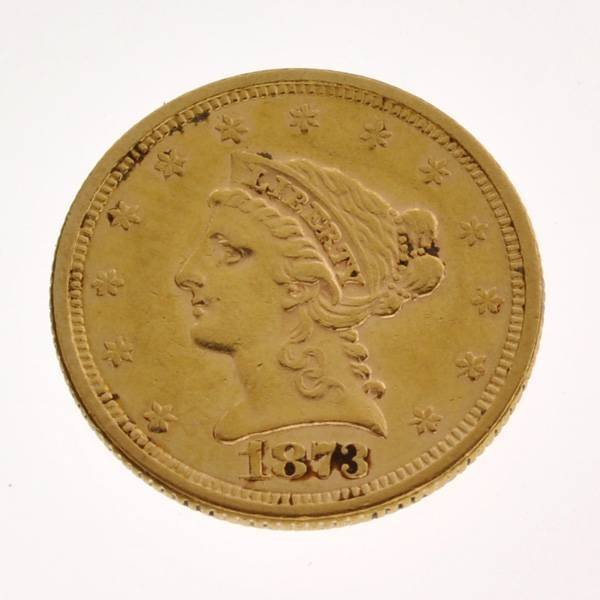 1873 U.S. $2.5 Liberty Head Gold Coin - Investment