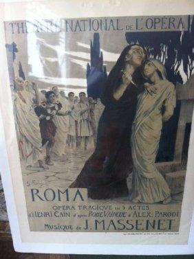 French ''Roma Opera'' Poster - J. Massenet